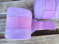 Muhkeat liilat fleecepintelit 2 kpl