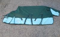 Vihreä fleecevuorellinen sadeloimi 155 cm