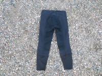 Mustat kokopaikkaiset ratsastushousut, koko 140 cm