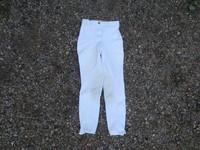 Cotton Naturals valkoiset ratsastushousut polvipaikoilla 150 cm