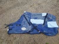 Best On Horse kulahtanut villaloimi, sininen 130 cm