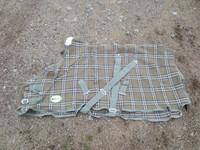Eqcode oliivinvihreäruudullinen vohveliloimi 120 cm