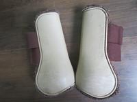 Norton beige-ruskeat jännesuojat karvavuorella COB