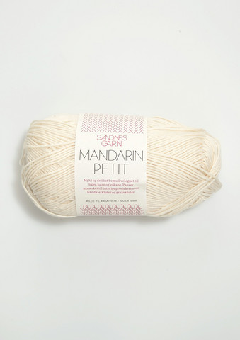 Sandnes Mandarin Petit, naturvit 1012