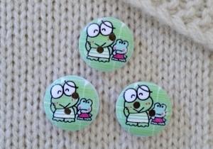 Miniknapp, groda mintgrön