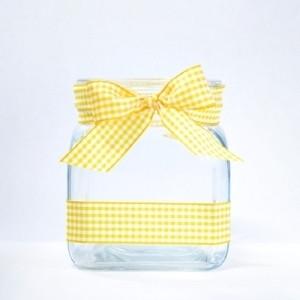 Baby square leveä ruudullinen keltainen nauha