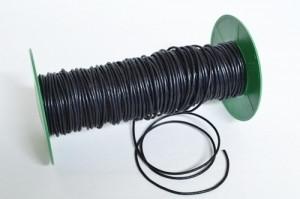 Tjockare vaxat bomullsband, svart