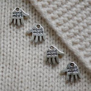 Handmade mini dekoration, silverfärgad