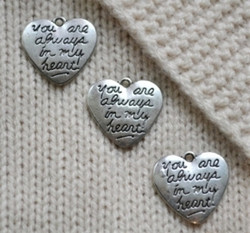 You are always in my heart dekoration, silverfärgad