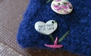 Handmade with love litet hjärta