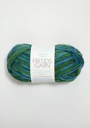 Sandnes Fritidsgarn, blågrön melerat 5900