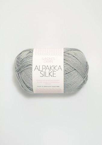 Sandnes Alpakka Silkki, vaalean harmaansininen 7521