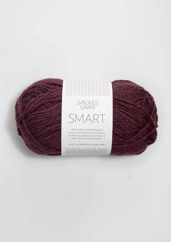 Sandnes Smart, mörkt vinröd 4363