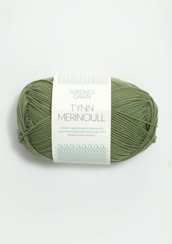 Sandnes tynn merinoull, grön 8543