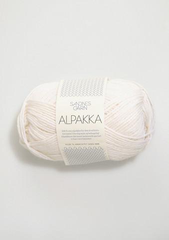 Sandnes Alpakka valkoinen 1001