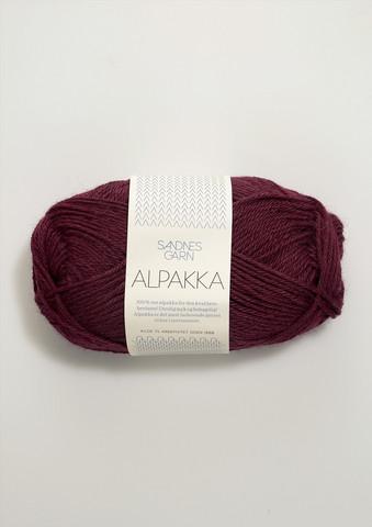 Sandnes Alpakka vinröd 4554