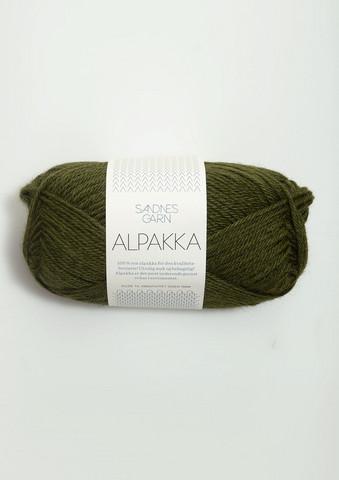 Sandnes Alpakka sammalvihreä 9573