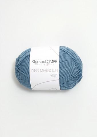Sandnes tynn merinoull, ljust jeansblå 6033