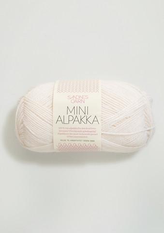 Sandnes Mini Alpakka, vit 1001