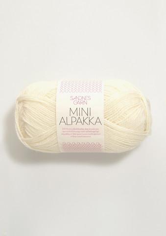 Sandnes Mini Alpakka, luonnonvalkoinen 1012
