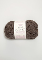 Sandnes Mini Alpakka, mellanbrun melerat 2652