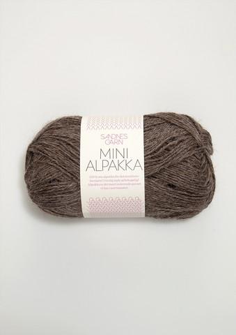 Sandnes Mini Alpakka, keskiruskea meleerattu 2652