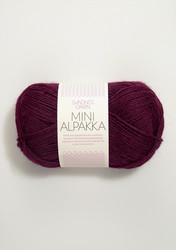 Sandnes Mini Alpakka, vinröd 4554
