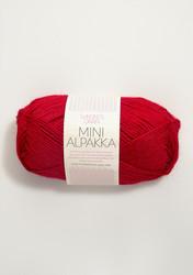 Sandnes Mini Alpakka, röd 4219
