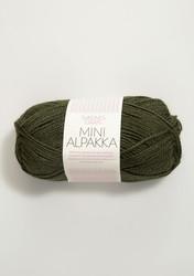 Sandnes Mini Alpakka, sammalvihreä 9573