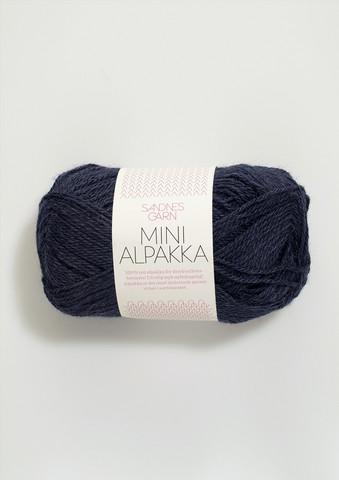 Sandnes Mini Alpakka, syvänsininen 6081
