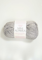 Sandnes Mini Alpakka, vaaleanharmaa meleerattu 1032