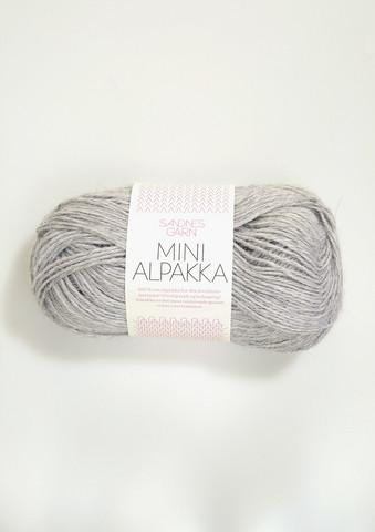 Sandnes Mini Alpakka, ljust gråmelerad 1032