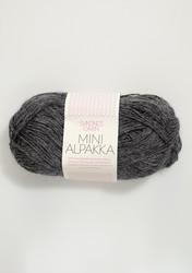 Sandnes Mini Alpakka, tummanharmaa meleerattu 1053