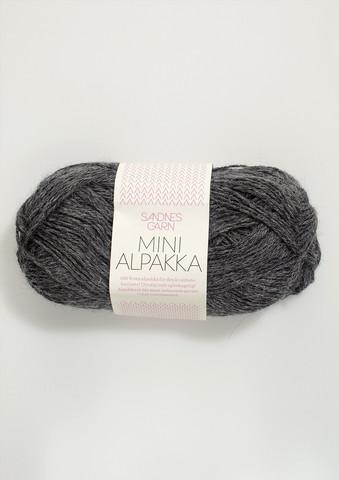 Sandnes Mini Alpakka, mörkt gråmelerad 1053