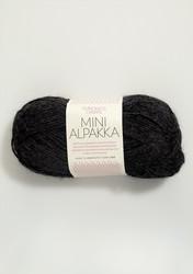 Sandnes Mini Alpakka, koksinharmaa meleerattu 1088