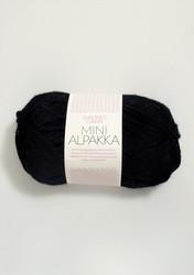 Sandnes Mini Alpakka, musta 1099