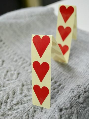 Klistermärken hjärtan, små, 12 st