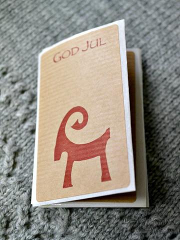 Klistermärken God Jul & Julbock, 6 st