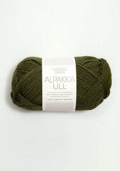Alpakka Ull, mossgrön 9573