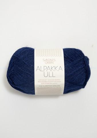 Alpakka Ull, marinblå 5575