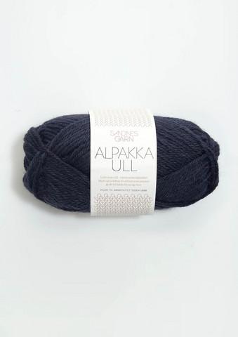 Alpakka Ull, midnattsblå 6081