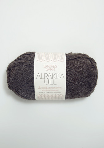 Alpakka Ull, mörkgrå 1053
