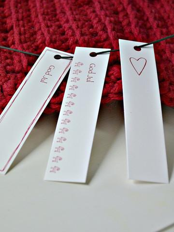 God Jul / hjärta paketkort, 3 pack.