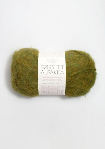 Harjattu Alpakka, lehdenvihreä 9645