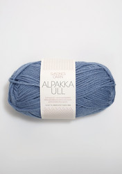 Alpakka Ull, jeansblå 6052