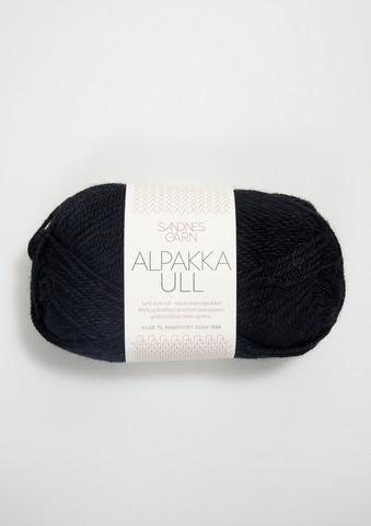 Alpakka Ull, svart 1099