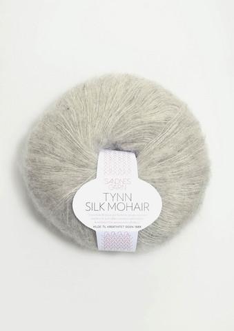 Tunn Silk Mohair, ljusgrå 1022