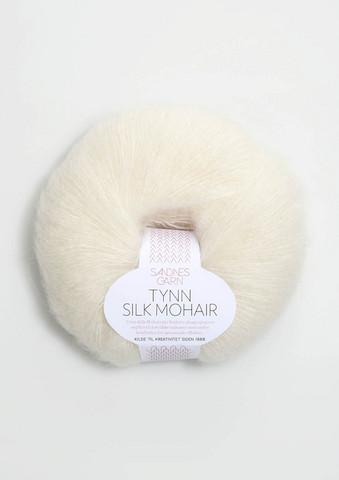 Ohut Silk Mohair, valkoinen 1012
