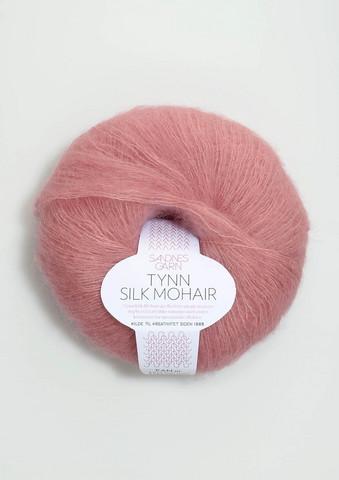 Ohut Silk Mohair, vaaleanpunainen 4323