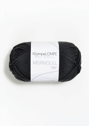 Sandnes KlompeLompe merinovilla, hillitty musta 5885